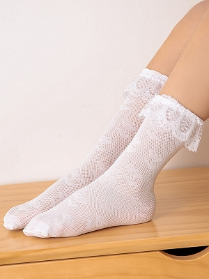 Summer Mesh Lace Ultra-thin Stockings for Kids by Fairy Cat