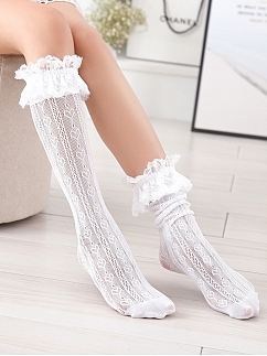 Sweet Heart Shaped Lace Stockings for Kids by Fairy Cat