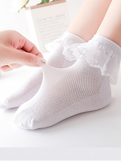 Lace Flounce Princess Socks for Kids by Fairy Cat