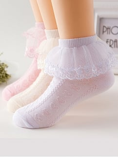 Summer Lace Flounce Princess Socks for Kids by Fairy Cat