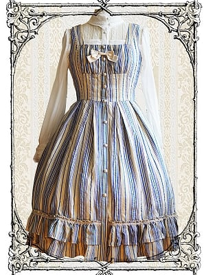 Queens Garden Stripe JSK by Fairy Mountain