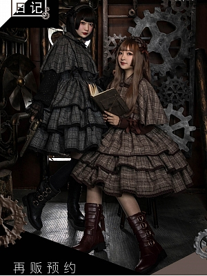 Rebellion Note Woolen Cape and JSK by Flower Banquet Lolita