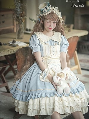 Alice Manor Short Puff Sleeves Lolita Dress OP by Fennel Studio