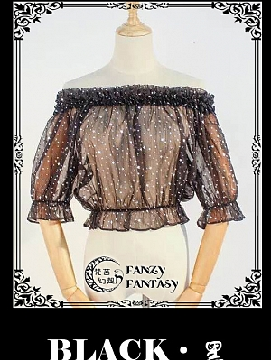 Gold Stamping Blouse Short Version by Fanzy Fantasy