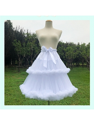 White Cloud 60 cm Double-layers Petticoat by Flower Field Happy Event