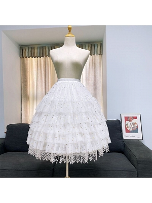 Star Gauze Tassel Hem Petticoat With Crinoline by Flower Field Happy Event