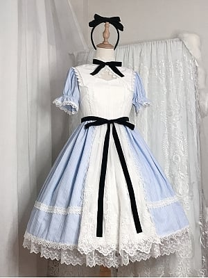 Alice in Wonderland OP Sweet Lolita Dress Free KC by Friday Lolita