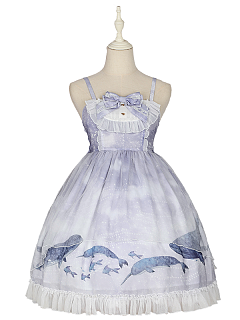 Continuous Whale Lolita Dress JSK I by Freesia Tale