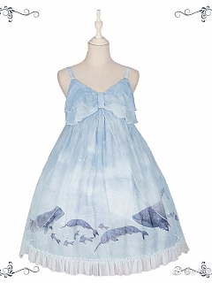 Continuous Whale Lolita Dress High-Bust JSK II by Freesia Tale