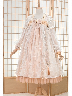 Qi Lolita Full of Flowers Dress Breast-high Served Ru OP by Fantastic Wind