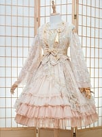 Qi Lolita Full of Flowers Dress Waist-high Served Ru OP by Fantastic Wind