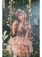 Elegant Iris Bicolor Embroidery Front Lolita Dress OP by Fantastic Wind