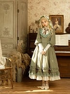 Dolls House Stripe Lolita Dress OP by Fantastic Wind