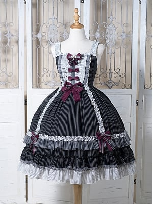 Dolls House Stripe Lolita Dress JSK by Fantastic Wind