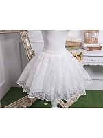 Elegant Embroidery Organza Short Petticoat by Fantastic Wind