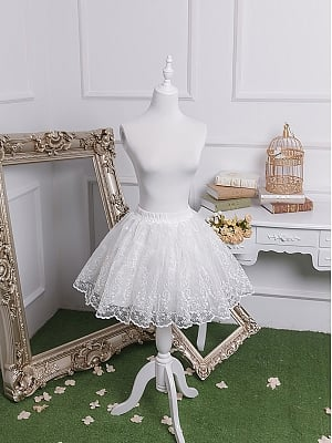 Elegant Embroidery Organza Long and Short Petticoat by Fantastic Wind