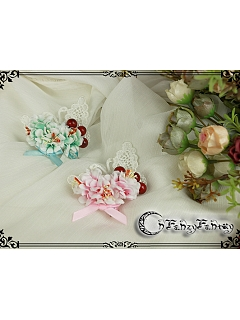 Cute Butterfly-shaped Lace Decorated Hair Clip