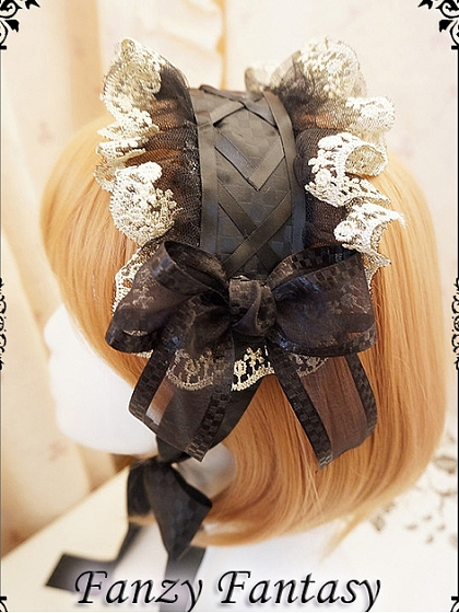 Lace Trimmed Hairband by Fanzy Fantasy