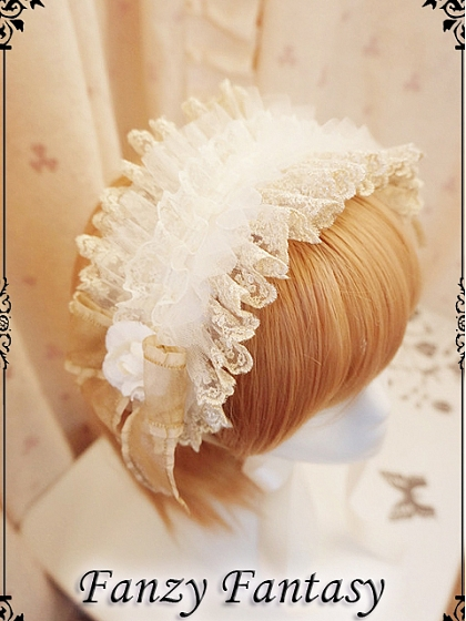 Artistic Lace and Ribbon Decorated Hairband by Fanzy Fantasy