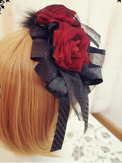 Gothic Style Fabric Flower Decorative KC