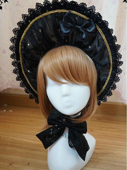 Gorgeous Gold Stamping Bonnet by Fanzy Fantasy