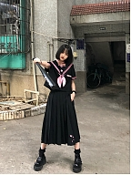 Cherry Blossoms Embroidery JK Uniform Suit by Gloaming