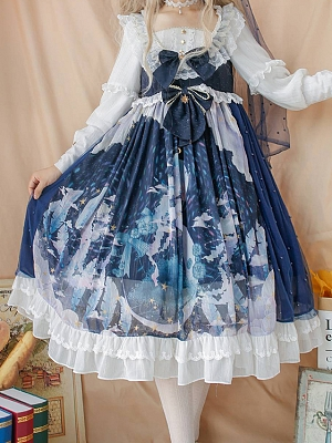 Sea of Clouds Fluorescent Version Available OP Lolita Dress by GUAJI