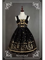 Custom Size Available Sleeveless Lace Up Thick Lolita JSK - Golden Swan Lake by Souffle Song