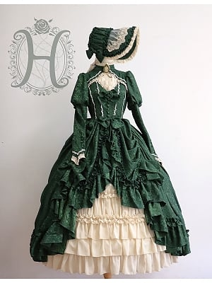 Moonlight Of Britain Victorian Basil Period Dress by Henrietta