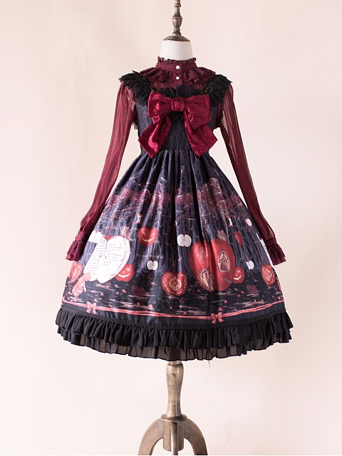 Linqin Little Red Riding Hood Empire Waist JSK by Honey Honey