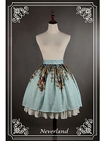 Bowknot Decorated Waistline Lolita Skirt / Lolita SK - Holy Cross by Souffle Song