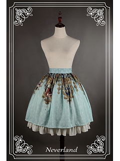 Custom Size Available Bowknot Decorated Waistline Lolita Skirt - Holy Cross by Souffle Song
