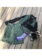 Custom Size Available Phosphorus and Ash Vintage Woolen Short Pants by Ichigo