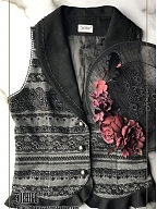 Light Feather Lace Vest by Ichigo