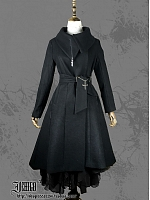 Custom Size Available Asymmetry Collar Coat by Ichigo15