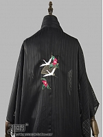Flying Crone Embroidered Chiffon Haori by Ichigo15