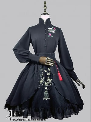 Custom Size Avaiable Qi Style Stand Collar Blouse By Ichigo15