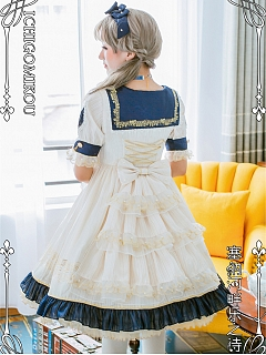 The Poem of Le Seine OP Matching Tiered Flounce Overlay by IchigoMikou Lolita
