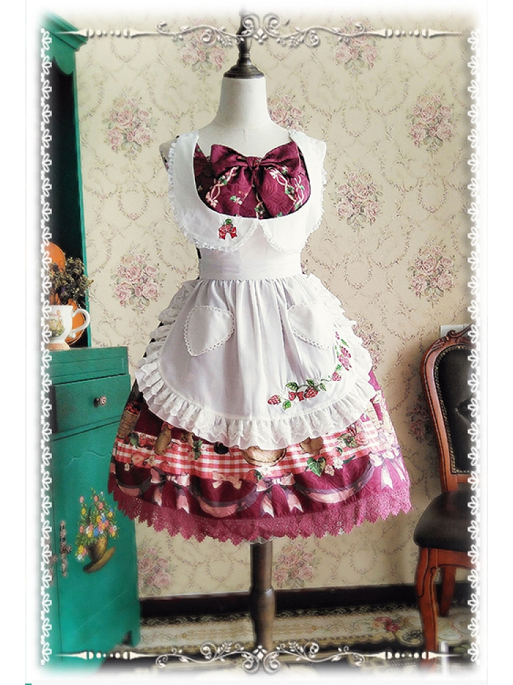 The Strawberry Kitchen Maid Collection Lolita Apron   By Infanta