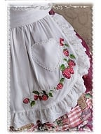 The Strawberry Kitchen Maid Collection Lolita Apron - by Infanta