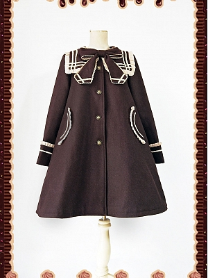 Sailor Collar Long Overcoat by Infanta