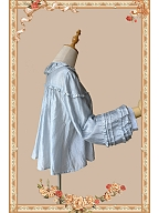 Free Size Dusty Blue Lolita Shirt - Picnic Baby by Infanta