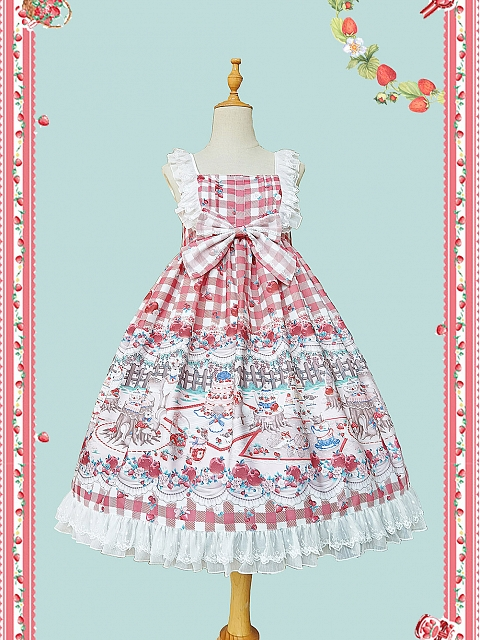 Forest Tea Party Plaid Lolita JSK by Infanta