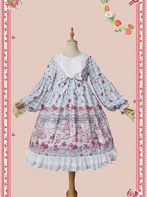 Forest Tea Party Plaid Lolita OP by Infanta