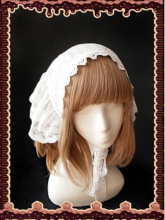Sugar With Matcha Lace Kerchief by Infanta