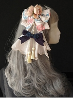 Pre-order Spring and Autumn Floral Blowknot Hairclip with Drape Cloth