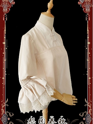 Spring and Autumn Collection Trumpet Sleeve Chinese Blouse by Infanta