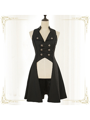 Immortal Song of Moon Night Long Vest by Immortal Thron