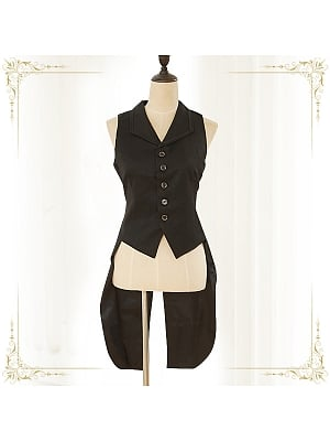 Immortal Fancy tea Powder Swallowtail Vest by Immortal Thron