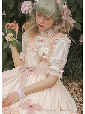 Exquisite Snow Lolita Dress JSK Matching Blouse by Jellyfish Lolita